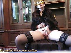 Brunette MILF Masturbation Russian