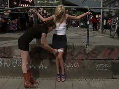 Blonde Public Submissive Teen