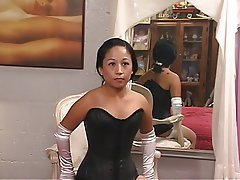 MILF Brunette Lingerie Asian Foot Fetish