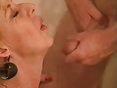 Blowjob Cumshot Granny Group Sex Old and Young