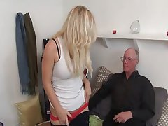 Babe Blowjob Cumshot Old and Young