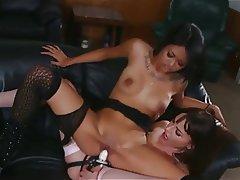 Interracial Lesbian Pornstar Strapon