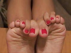 Asian Cumshot Foot Fetish POV