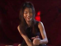 Babe Brunette Cumshot Handjob Japanese