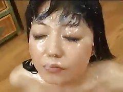 Asian Babe Cumshot Facial Hardcore
