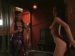BDSM Lesbian Brunette Latex