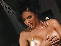 Anal Brunette Pornstar Shower