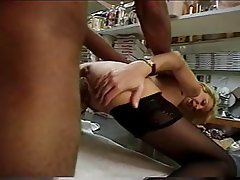 Anal Blonde Interracial Stockings