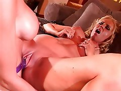 Lesbian Big Boobs Blonde Nylon