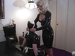 BDSM Blonde Latex Big Boobs