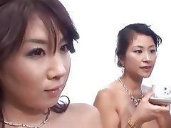 Threesome Creampie Japanese MILF