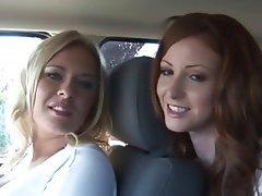 Amateur Lesbian Strapon Threesome