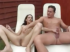 Anal Brunette Orgasm Outdoor