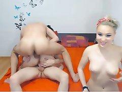 Webcam Group Sex Double Penetration Blowjob