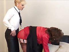 BDSM Femdom Secretary Stockings