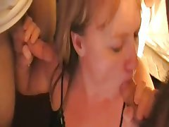 Blowjob Cumshot Facial Handjob Threesome