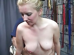 BDSM Blonde Blowjob MILF