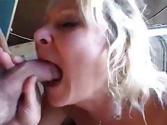 Anal Blonde Cumshot Granny