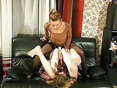 BDSM Blonde Femdom Russian Strapon