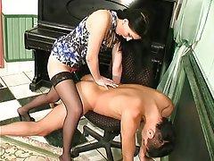 BDSM Brunette Femdom Russian