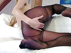 Blonde Masturbation Nylon