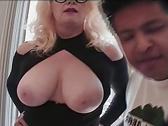 Granny Interracial Mature Threesome