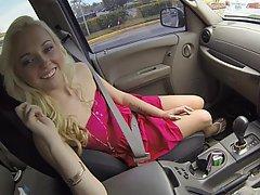 Amateur Blonde Blowjob Car