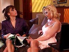 Lesbian Big Boobs Blonde Brunette