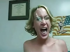 Blonde Blowjob Facial MILF Secretary