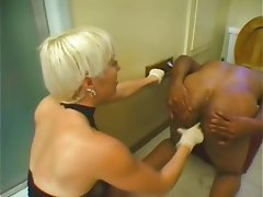 Anal Cumshot Femdom Interracial Strapon