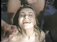 Big Boobs Brunette Double Penetration Facial Threesome
