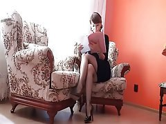Big Butts Brunette Mature Stockings