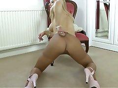 Blonde British Masturbation Nylon