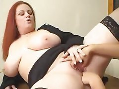 Big Boobs Lesbian Old and Young Redhead Strapon