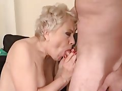 Blonde Facial Granny Mature