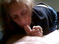 Amateur Blowjob Cumshot Granny