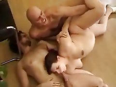 Double Penetration Hairy Hardcore Threesome