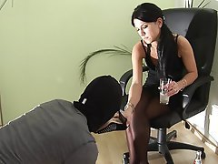 Femdom Foot Fetish Stockings