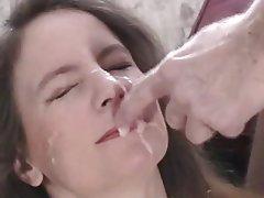 Amateur Blowjob Facial MILF