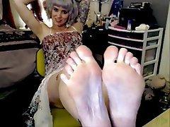 Amateur Foot Fetish Webcam