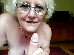 Blowjob British Cumshot Granny
