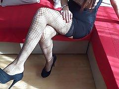 Amateur BDSM Femdom Foot Fetish Stockings