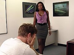Blowjob MILF Office Teacher