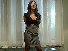 Brunette Asian Lesbian MILF