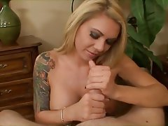 Cumshot Handjob Masturbation POV Tattoo