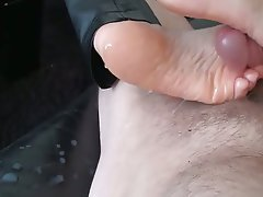 Amateur Close Up Cumshot Foot Fetish
