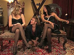 Blonde Femdom Mistress Stockings