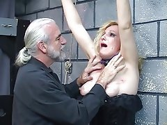 BDSM Blonde Latex Mature