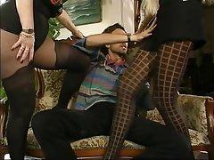 Mature MILF Stockings Threesome