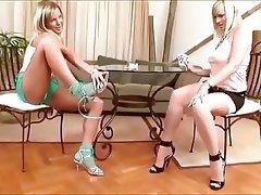 Foot Fetish Lesbian Stockings